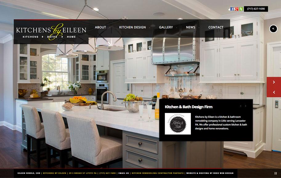 kitchens by eileen lititz pa website redesign redx web design
